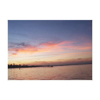 Sunset over Florida Bay, Key Largo FL Canvas Print