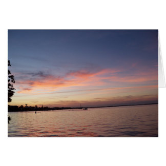 Sunset over Florida Bay, Key Largo FL Card