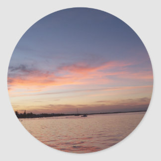 Sunset over Florida Bay, Key Largo FL Classic Round Sticker