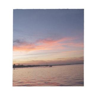 Sunset over Florida Bay, Key Largo FL Notepad