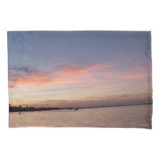 Sunset over Florida Bay, Key Largo FL Pillowcase