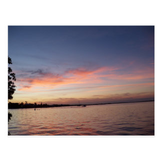 Sunset over Florida Bay, Key Largo FL Postcard
