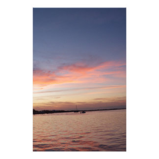 Sunset over Florida Bay, Key Largo FL Stationery