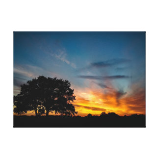 Sunset over Gosbecks Canvas Print