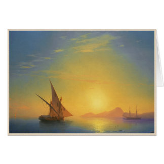 Sunset over Ischia Ivan Aivazovsky seascape waters Card