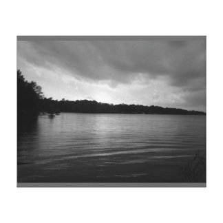 Sunset Over Lake Marion - B&W Canvas