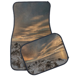 Sunset over lake Myvatn, Iceland Car Mat