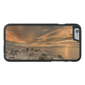Sunset over lake Myvatn, Iceland Carved® Maple iPhone 6 Case