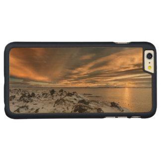 Sunset over lake Myvatn, Iceland Carved® Maple iPhone 6 Plus Case