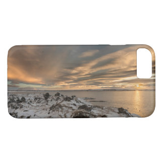 Sunset over lake Myvatn, Iceland iPhone 7 Case