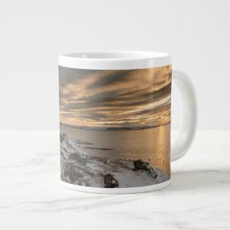 Sunset over lake Myvatn, Iceland Large Coffee Mug