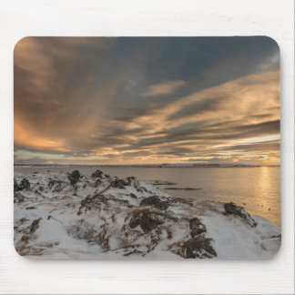 Sunset over lake Myvatn, Iceland Mouse Pad