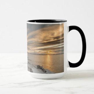 Sunset over lake Myvatn, Iceland Mug