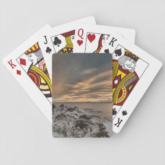 Sunset over lake Myvatn, Iceland Playing Cards
