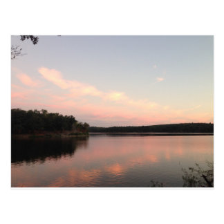Sunset over Lake of the Arbuckles Postcard