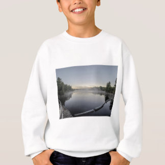 Sunset over lake sweatshirt