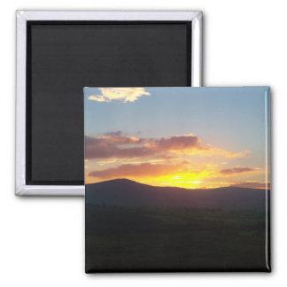 Sunset over Lakeland fells Magnet