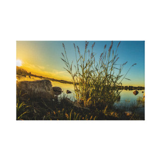 """Sunset over Lough Ree, Ireland"" canvas prints"