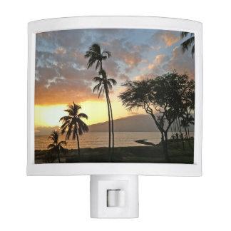 Sunset over Maalaea Bay, Maui Nite Lights