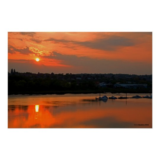 Sunset Over Medway Print