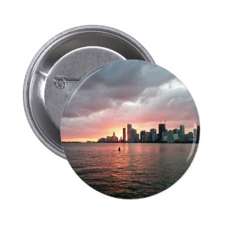 Sunset over Miami 2 Inch Round Button