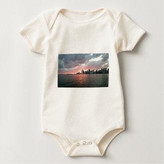 Sunset over Miami Baby Bodysuit