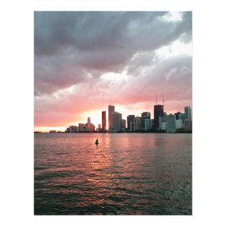 Sunset over Miami Custom Letterhead