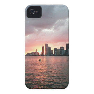 Sunset over Miami iPhone 4 Case-Mate Cases