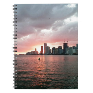 Sunset over Miami Notebook