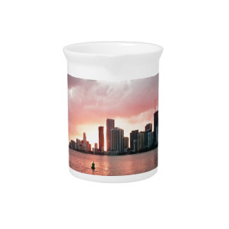 Sunset over Miami Pitcher