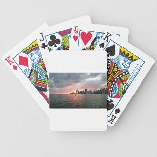 Sunset over Miami Poker Deck