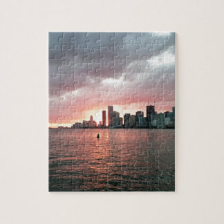 Sunset over Miami Puzzles