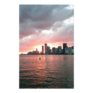 Sunset over Miami Stationery