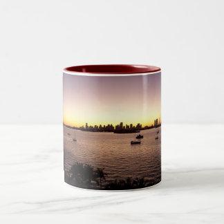 Sunset Over Miami Two-Tone Coffee Mug