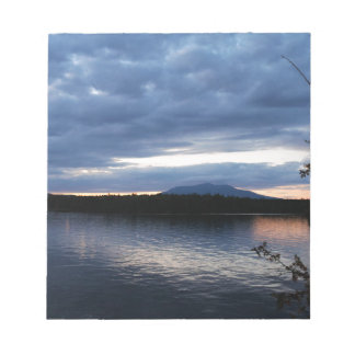 Sunset Over Mount Katahdin Millinocket Lake Maine Notepad