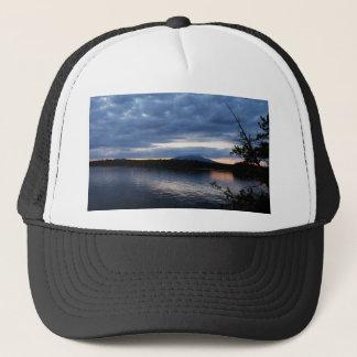 Sunset Over Mount Katahdin Millinocket Lake Maine Trucker Hat