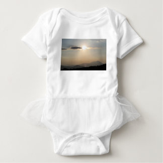 Sunset over mountains baby bodysuit