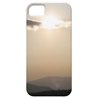 Sunset over mountains iPhone 5 case
