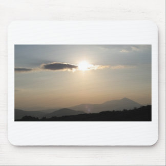 Sunset over mountains mouse pad