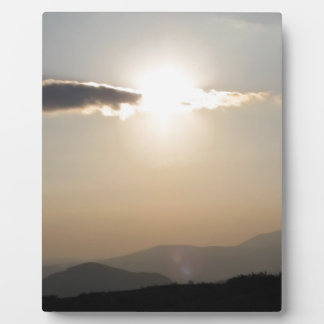 Sunset over mountains plaque