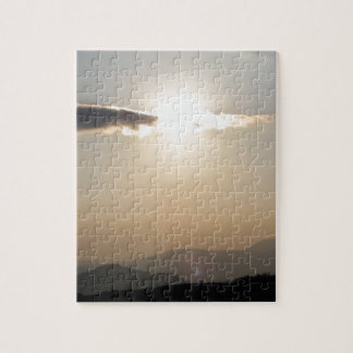 Sunset over mountains puzzles