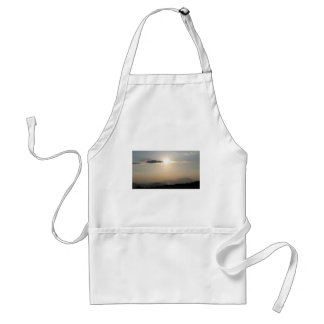 Sunset over mountains standard apron