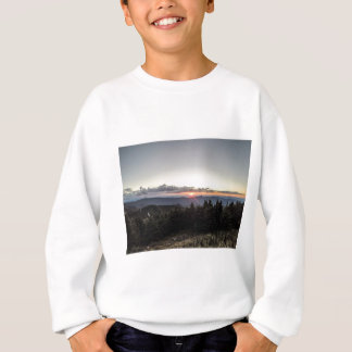 sunset over mountains sweatshirt