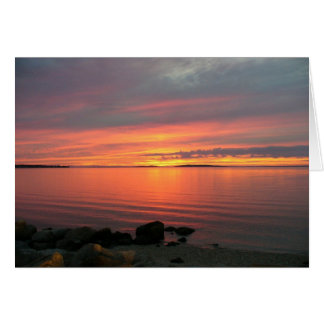 Sunset Over Noyac Bay Card