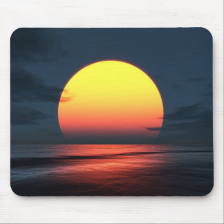 Sunset Over Ocean Mouse Pad