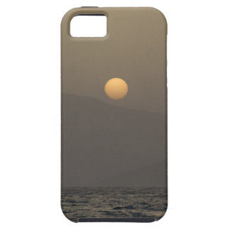 Sunset over Paros island mountains Case For The iPhone 5