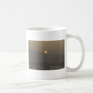 Sunset over Paros island mountains Coffee Mug