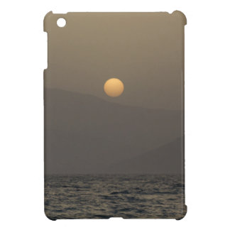 Sunset over Paros island mountains Cover For The iPad Mini