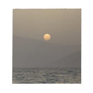 Sunset over Paros island mountains Notepad