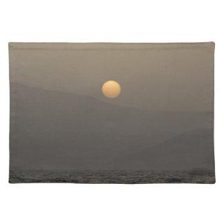 Sunset over Paros island mountains Placemat